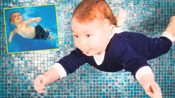 Photo of Bebeklerden Sualtı Mimik Şov