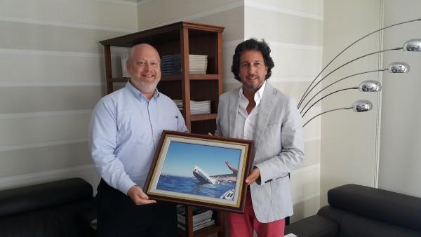 Photo of James J. Turner , BOSAD Başkanı İhsan Küçükünsal'ı makamında ziyaret etti
