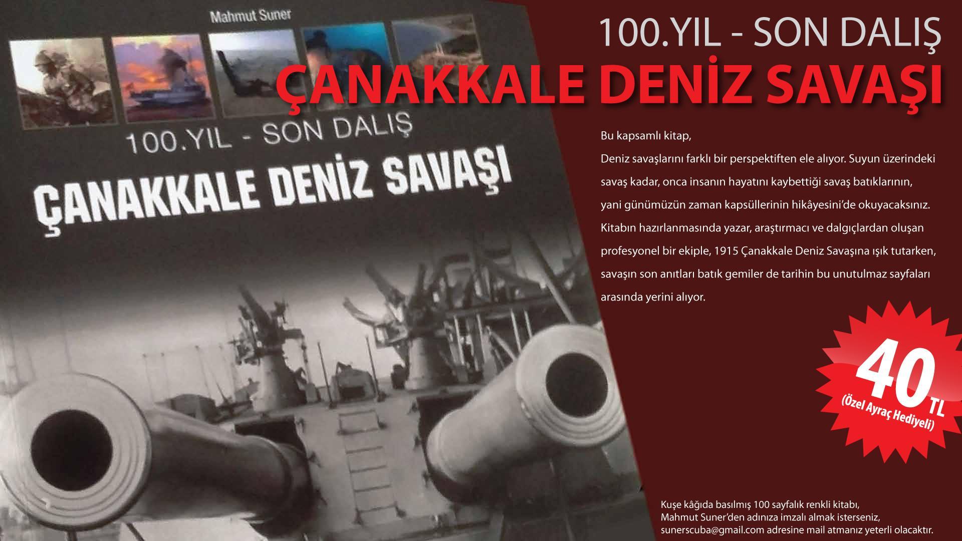 Photo of Kitap : Çanakkale Deniz Savaşı 100.Yıl Son Dalış