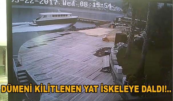 Photo of Dümeni Kilitlenen Yat İskeleye Daldı