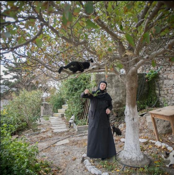 Photo of Turist olarak geldi, adanın tek rahibesi oldu.